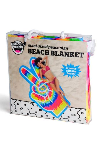 BIG MOUTH INC PEACE SIGN BEACH BLANKET