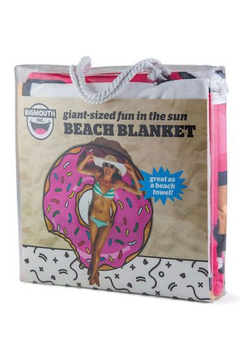 BIG MOUTH GIGANTIC FROSTED DONUT BEACH BLANKET