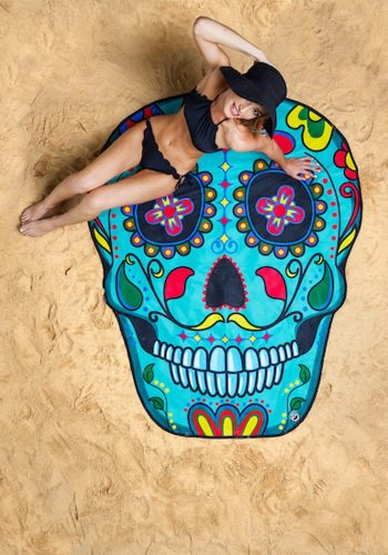 BIG MOUTH INC GIGANTIC SUGAR SKULL BEACH BLANKET