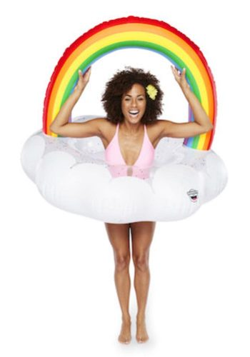 BIG MOUTH INC RAINBOW CLOUD POOL FLOAT