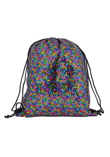 DRAWSTRING BACKPACK - RAINBOW SEQUIN