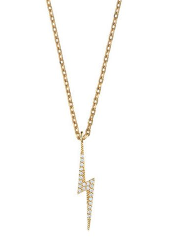 ESTELLA BARTLETT LIGHTENING BOLT NECKLACE - GOLD PLATED