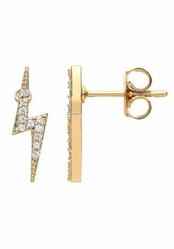 ESTELLA BARTLETT LIGHTENING BOLT EARRINGS - GOLD PLATED