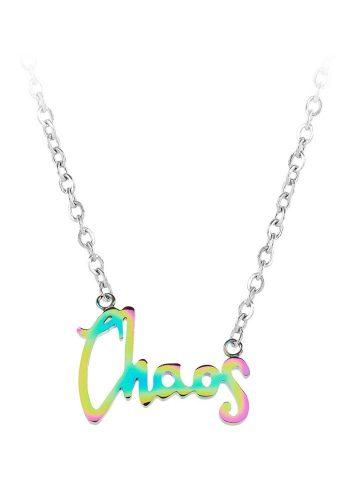 ESA EVANS CHAOS WORD NECKLACE - PETROL