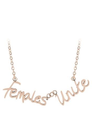 ESA EVANS FEMALES UNITE WORD NECKLACE - 18K ROSE GOLD PLATE