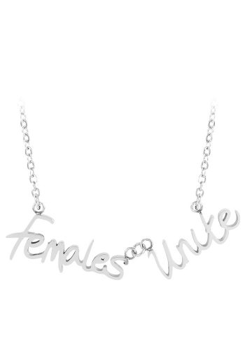 ESA EVANS FEMALES UNITE WORD NECKLACE - POLISHED STEEL