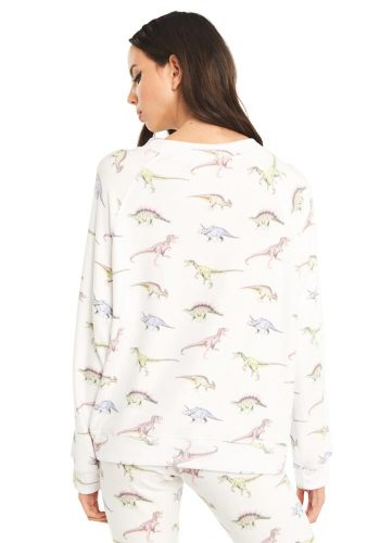 WILDFOX DINO SOMMERS SWEATER - CLEAN WHITE