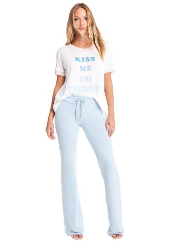 WILDFOX KISS ME WRIGHT TEE - CLEAN WHITE / PINK