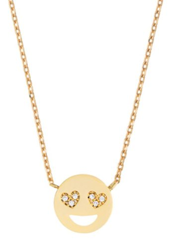 ESTELLA BARTLETT HEART EYES EMOJI NECKLACE - GOLD PLATED