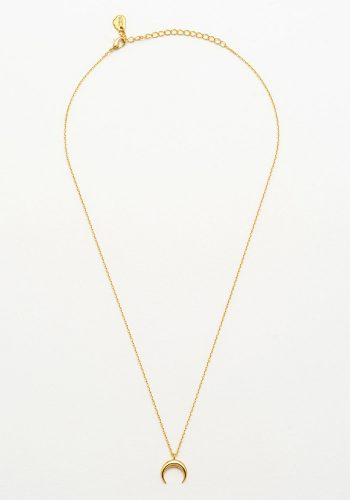 ESTELLA BARTLETT MINI HORN NECKLACE - GOLD PLATED
