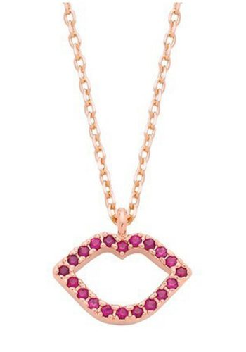 ESTELLA BARTLETT LIPS NECKLACE - ROSE GOLD PLATED