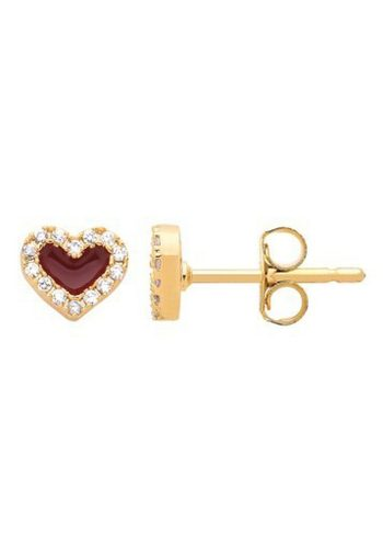 ESTELLA BARTLETT QUEEN OF HEARTS EARRINGS - GOLD PLATED