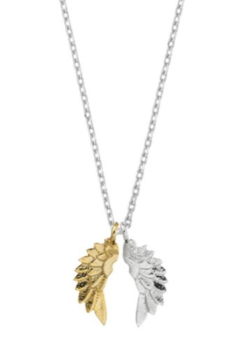 ESTELLA BARTLETT WINGS NECKLACE - SILVER PLATED