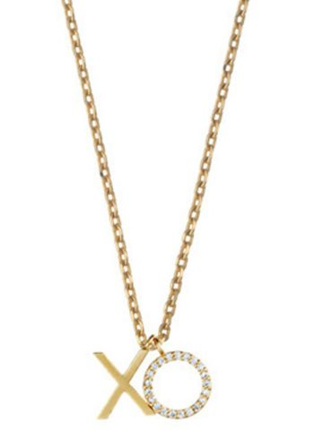 ESTELLA BARTLETT XO NECKLACE - GOLD PLATED