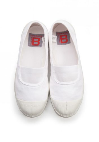 BENSIMON TENNIS A ELASTIQUES SHOES - WHITE