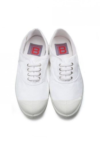 BENSIMON TENNIS A LACETS SHOES - WHITE
