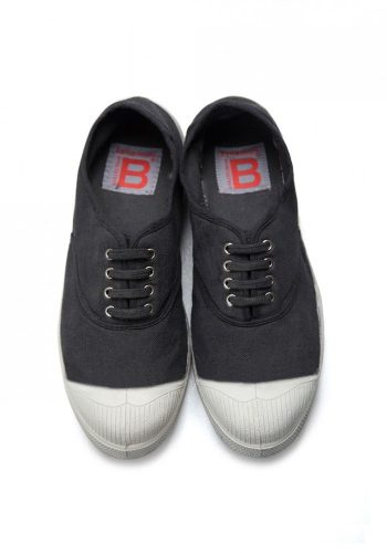 BENSIMON TENNIS A LACETS SHOES - CARBON
