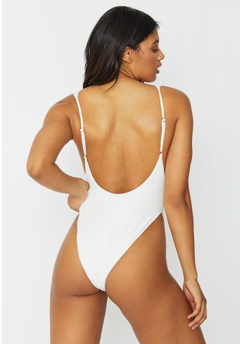 FRANKIES BIKINIS ADELE ONE PIECE - WHITE