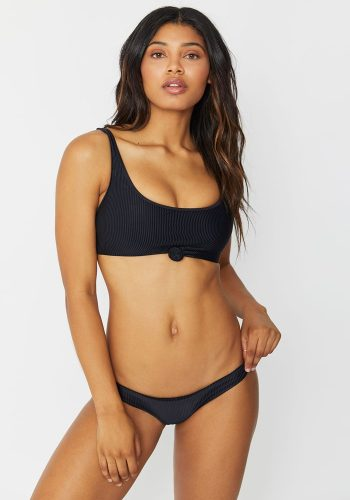 FRANKIES BIKINIS GREER TOP - BLACK