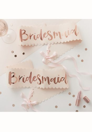 GINGER RAY BRIDESMAID HEN PARTY SASH