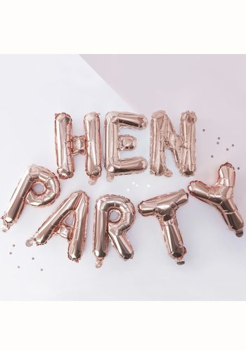 GINGER RAY ROSE GOLD HEN PARTY BALLOON BUNTING
