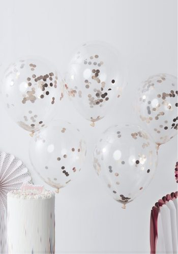 GINGER RAY ROSE GOLD CONFETTI BALLOONS