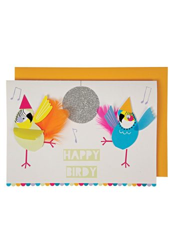 MERI MERI HAPPY BIRDY BIRTHDAY CARD