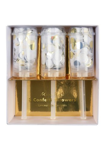 MERI MERI CONFETTI THROWERS - SILVER / GOLD