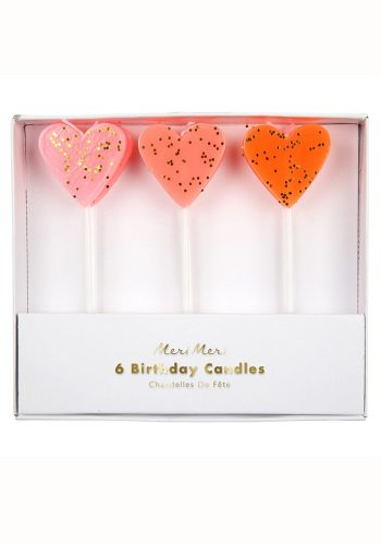 MERI MERI HEART CANDLE SET