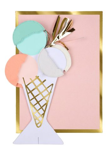 MERI MERI ICE CREAM HONEY COMB CARD