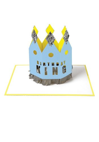 MERI MERI BIRTHDAY KING CROWN CARD