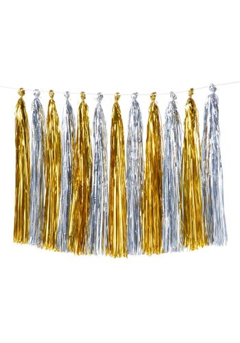 MERI MERI GOLD AND SILVER TASSEL