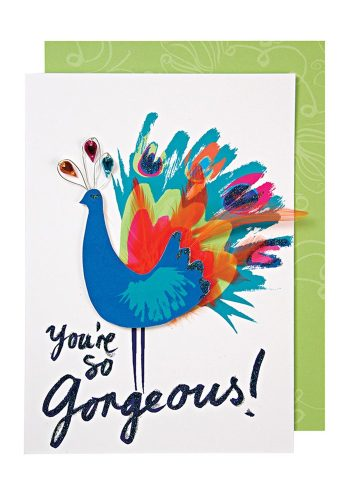 MERI MERI GORGEOUS PEACOCK CARD