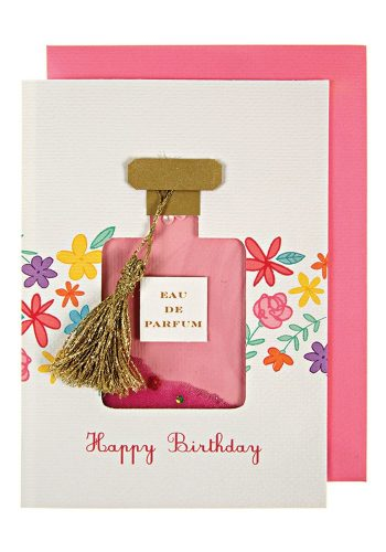 MERI MERI FLORAL PERFUME BOTTLE CARD
