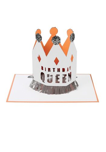 MERI MERI BIRTHDAY QUEEN CROWN CARD