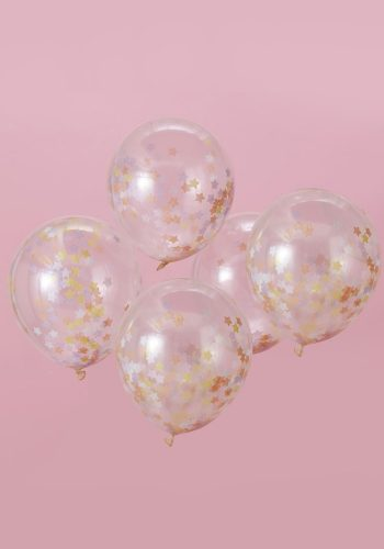 GINGER RAY STAR CONFETTI BALLOONS