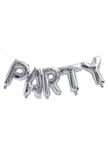 GINGER RAY SILVER PARTY BALLOON BUNTING