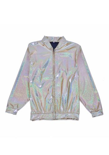 FESTIVAL BOMBER JACKET - HOLOGRAPHIC SILVER