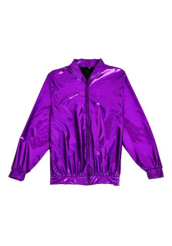 FESTIVAL BOMBER JACKET - HOLOGRAPHIC PURPLE