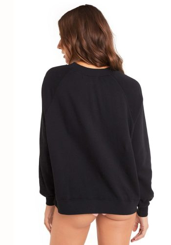 WILDFOX IM BORED SOMMERS SWEATER - CLEAN BLACK