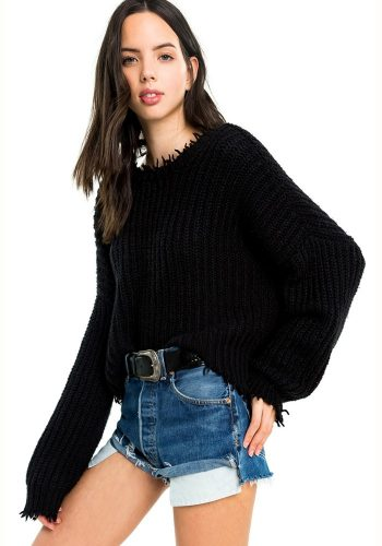 WILDFOX PALMETTO SWEATER - CLEAN BLACK