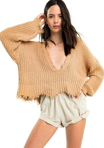 WILDFOX PALMETTO SWEATER - DESSERT DUNES