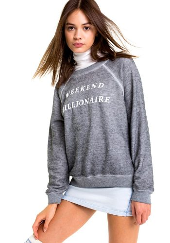 WILDFOX WEEKEND MILLIONAIRE SOMMERS SWEATER - HEATHER