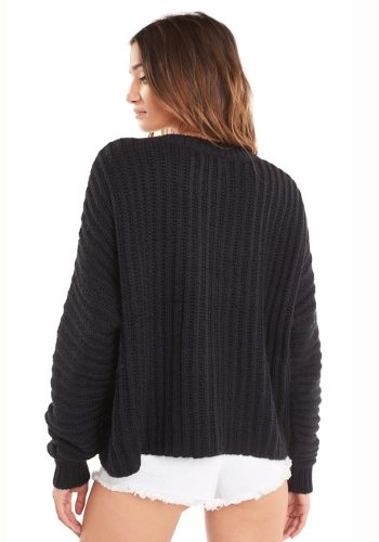WILDFOX WILD THING NEWELL SWEATER - CLEAN BLACK