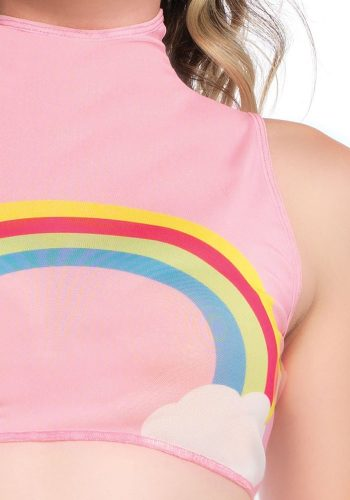 LEG AVENUE - RAINBOW CROP TOP