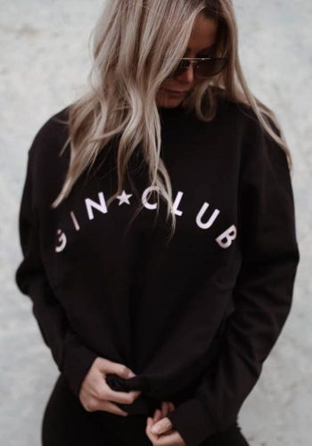 OFF DUTEE - GIN CLUB SWEATSHIRT - BLACK