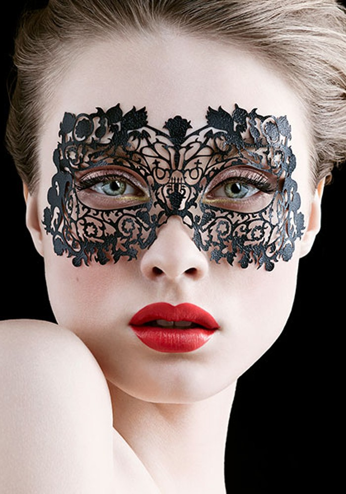 FACE LACE MUSETRESS – BLACK