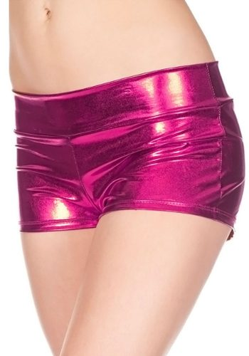 music legs SHORTS – METALLIC PINK