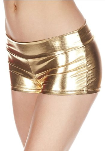 music legs SHORTS – METALLIC GOLD