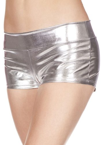 music legs SHORTS - METALLIC SILVER